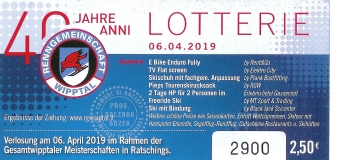 40 Jahre RG Wipptal – LOTTERIE